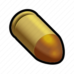 ammo, bullet, gun, military, pistol, shoot, weapon icon