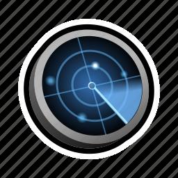 find, military, radar, search, war icon