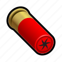 ammo, fire, military, projectile, shoot, shotgun icon