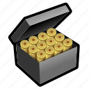 ammo, bullet, military, round, shoot, shotgun icon
