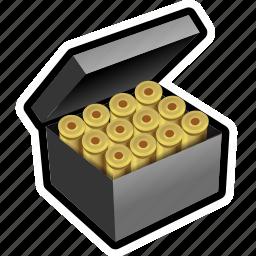 ammo, bullet, military, round, shoot, shotgun icon