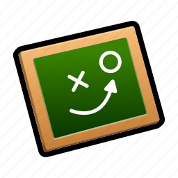 chalkboard, military, strategy, tutorial icon