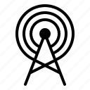 military, radar, radio waves, satellite, war icon