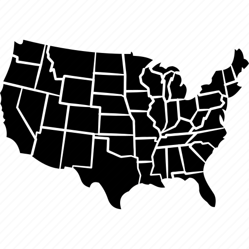 american, country, democracy, north america, united states map, us map, usa icon