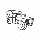 automobile, car, humvee, jeep, military, transportation, vehicle icon
