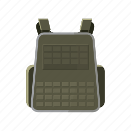 backpack, bag, cartoon, equipment, luggage, military, travel icon