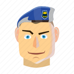army, cartoon, military, paratrooper, people, person, soldier icon