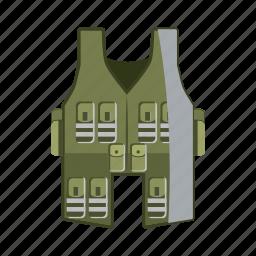 cartoon, cloth, clothing, jacket, uniform, vest, wear icon