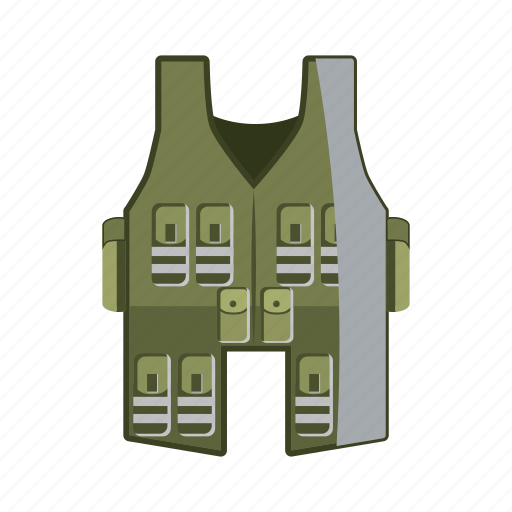 Cartoon, cloth, clothing, jacket, uniform, vest, wear icon - Download on Iconfinder