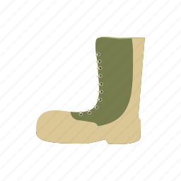army, boots, cartoon, protection, season, waterproof, weather icon