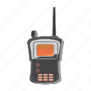 cartoon, military, mobile, portable, radio, transmitter, wave icon