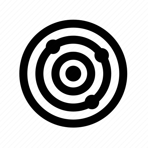 aim, and, enforcement, goal, law, military, target icon