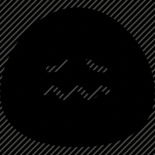 emoji, emotion, expression, face, feeling, nervous icon