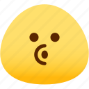 blowing, emoji, emotion, expression, face, feeling icon