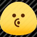emotion, blowing, face, feeling, expression, emoji icon
