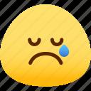 emotion, cry, face, feeling, expression, emoji icon