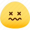 emotion, dead, face, feeling, expression, emoji icon