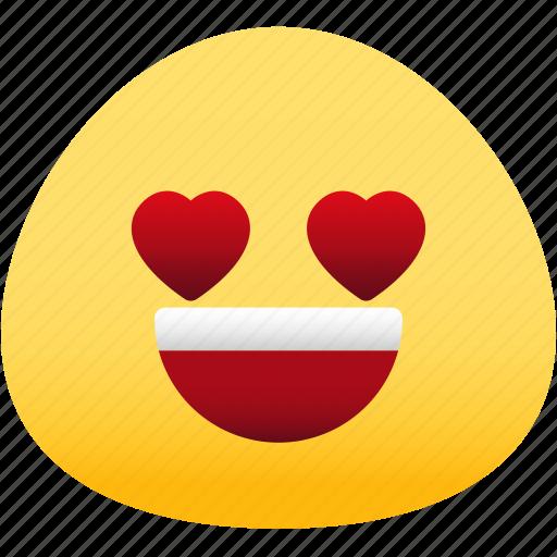 emoji, emotion, expression, face, feeling, love icon