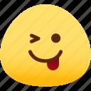 emotion, naughty, face, feeling, expression, emoji icon