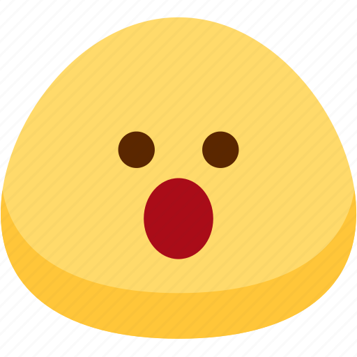 emoji, emotion, expression, face, feeling, mouth, open icon