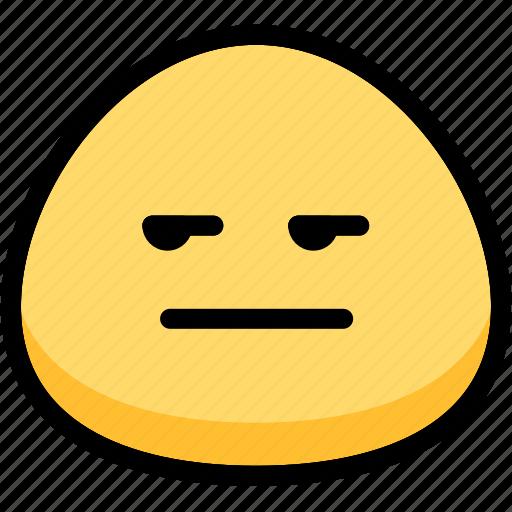 annoying, emoji, emotion, expression, face, feeling icon