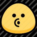 blowing, emoji, emotion, expression, face, feeling