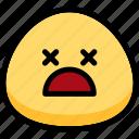 dead, emoji, emotion, expression, face, feeling