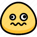 dizzy, emoji, emotion, expression, face, feeling