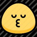 emoji, emotion, expression, face, feeling, kiss