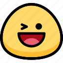 emoji, emotion, expression, face, feeling, laughing
