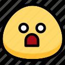 emoji, emotion, expression, face, feeling, shocked