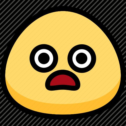 emoji, emotion, expression, face, feeling, shocked icon