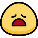 emoji, emotion, expression, face, feeling, tried icon
