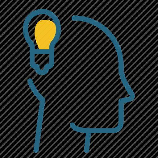 creativity, idea, inspiration, light bulb icon