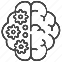 think, mindset, brain, process icon