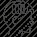 fixed mindset, idea, jail, mindset, think icon