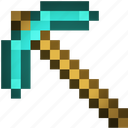 art, axe, craft, mine, minecraft icon