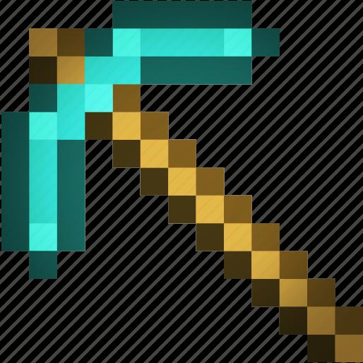 art, axe, craft, mine, minecraft icon