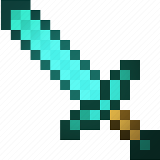 art, craft, mine, minecraft, sword icon