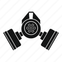 chemical, defense, gas, mask, military, protection, toxic icon