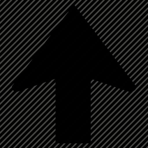 arrow, direction, sign, up, upload, upward icon