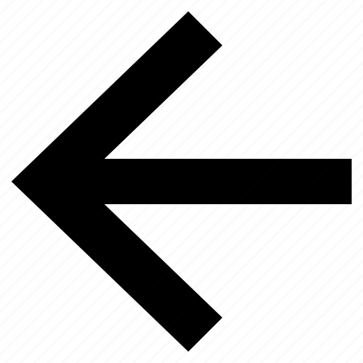 arrow, back, direction, indicator, left, pointer, sign icon