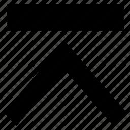 arrow, indicator, into, pointing, up, upward icon