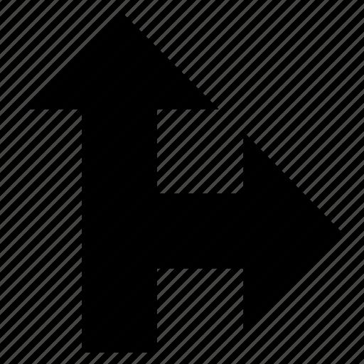 arrow, directional arrow, indicator, pointer, street sign icon
