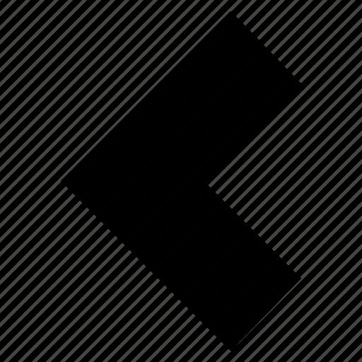 alerts, arrow, back, directional, left, navigation symbol icon