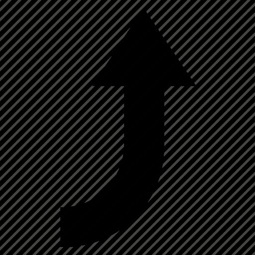 arrow, curve, up, up right, web arrow icon