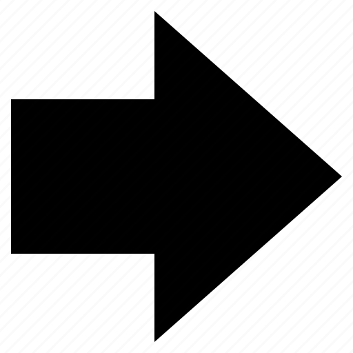 arrow, direction, forward, indicator, pointer, right, sign icon