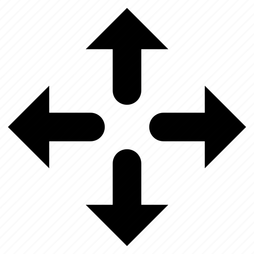 arrows, enlarge, expand, extend, increase, outward, resize, spread icon