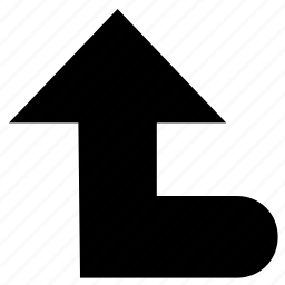 arrow, direction, hint, turn, turning sign, up, up left icon
