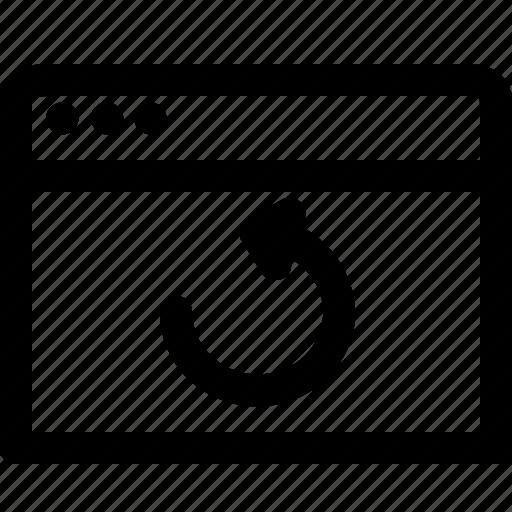 arrow, browser, communication, internet, refresh, window icon